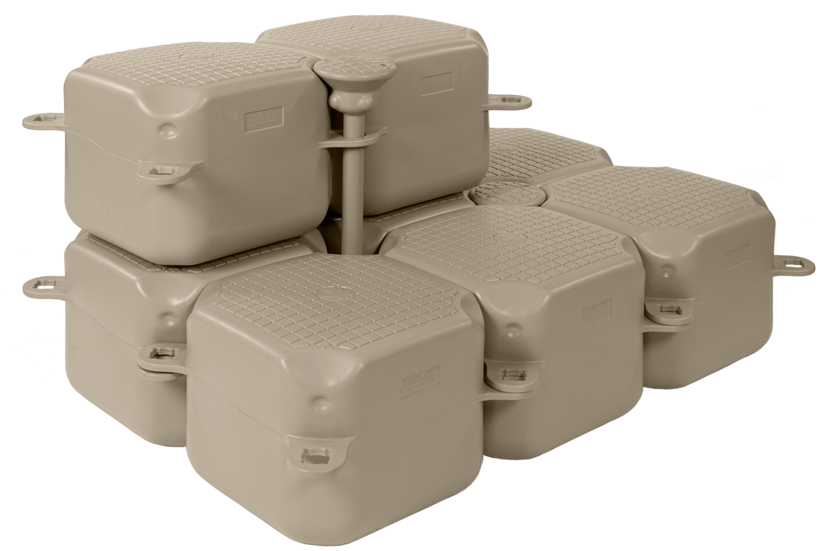 Jetfloat long pin accessory on stacked Jetfloat unit